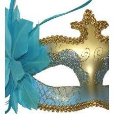 blue masquerade masks light blue and gold masquerade mask with glittery patterns and
