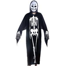 skeleton ghost zombie cloak robe halloween wear kids