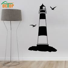 Lighthouse Home Decor Online Get Cheap Lighthouse Wall Stickers Aliexpress Com