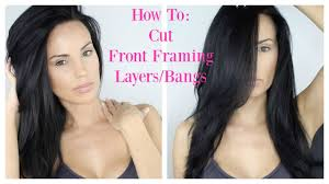 how to cut your own front framing layers bangs at home youtube