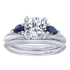engagement rings stones images 14k white gold and sapphire 3 stones 14k white gold engagement jpg