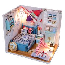 Free Miniature Dollhouse Plans by Aliexpress Com Buy Gifts New Brand Diy Doll Houses Wooden Doll