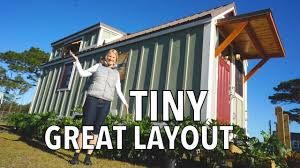 house lots cozy wooden tiny house downstairs bedroom u0026 lots of storage