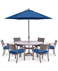 CLOSEOUT Ocean Port Outdoor Aluminum Pc Dining Set  Round - Outdoor aluminum furniture