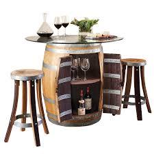 recycled barrel pub table u0026 2 pub stools set 17440 iwa wine