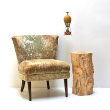 wood stump side table add stunning and rustic look to a room
