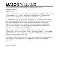 Cover Letter For Work Experience Best Accounting Clerk Cover Letter Examples Livecareer
