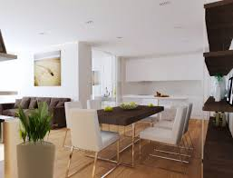 Kitchen Dining Rooms Designs Ideas Attractive Modern Kitchen Dining Living Decor Ideas With J Shape