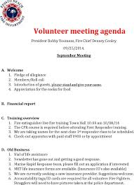 volunteer report template volunteer microsoft meeting agenda template for free