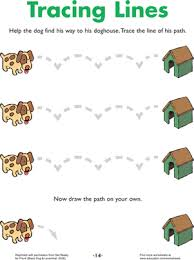line tracing doggie directions worksheet education com