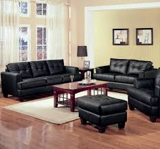 2 Piece Leather Sofa by 2 Piece Black Bonded Leather Loveseat And Sofa Group Furniture