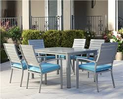 cosco outdoor products cosco outdoor living 7 piece blue veil