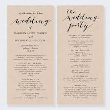 in memory of wedding program 11 best wedding program templates images on wedding