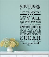 Wall Stickers For Home Decoration by Southern Rules Vinyl Decal Wall Stickers Letters Words Kitchen