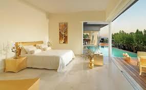 bedroom rooftop swimming pool design with wooden floor inside