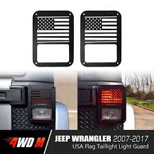 jeep light covers usa flag taillight covers for jeep wrangler jk 2007 2017 pair