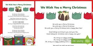 we wish you a merry song lyrics song