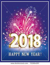 new year post card postcard happy new year 2018 on stock vector 703884097