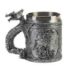 stainless steel dragon mug at koehler home decor