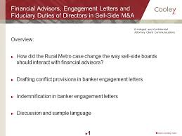 financial advisors engagement letters and fiduciary duties of
