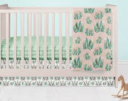 cactus crib bedding etsy