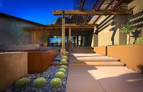 cool carport canopy in landscape southwestern with cactus garden