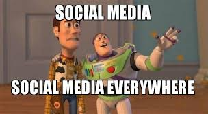 Social Media Meme - social media social media everywhere buzz and woody social media