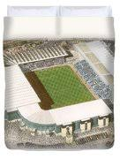 Man City Duvet Cover Maine Road Manchester City Painting By Kevin Fletcher