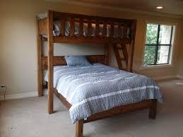 Bunk Beds  Queen Bunk Bed With Desk Queen Over King Bunk Bed Twin - King bunk beds
