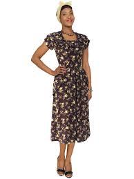 1940s dresses 1940s dress golden from vivien of holloway