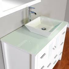 White Modern Bathroom Vanity by Alya Bathroom Supply Llc