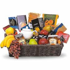food baskets to send gourmet tea gift basket at send flowers