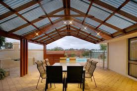 Pergola Designs With Roof by Softwoods 9 0 X 3 0m Pre Cut Gable Attached Pergola Kit Suntuf