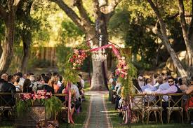Wedding Arches Inside Bride Wears Claire Pettibone Gown To Bohemian Outdoor Wedding