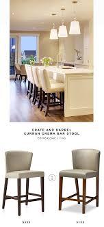 crate and barrel bar table crate and barrel curran crema bar stool copycatchic