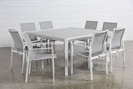 outdoor biscayne 9 piece square dining set living spaces