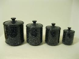 Ceramic Kitchen Canisters Sets by Black Ceramic Canister Set Ceramic Kitchen Canisters