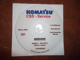 komatsu wa600 1 thru wa1200 3 wheel loaders service shop repair