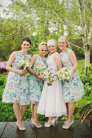 floral print bridesmaid dress excited look colorful printed bridesmaid dresses weddceremony