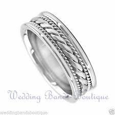 braided wedding bands men s braided wedding ring 14k white gold 7mm ebay