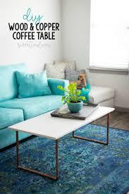 diy wood u0026 copper coffee table