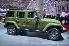 jeep wrangler side jeep wrangler 75th anniversary edition side at the 2016 geneva