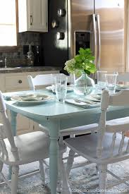 How To Paint A Laminate Kitchen Table Confessions Of A Serial Do - Painting kitchen table