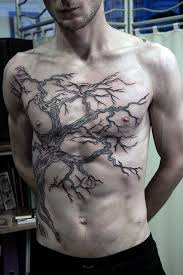 gnarled oak tree branches on torso for guys trees