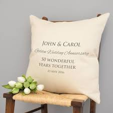 golden anniversary gifts personalised golden wedding anniversary cushion by a type of