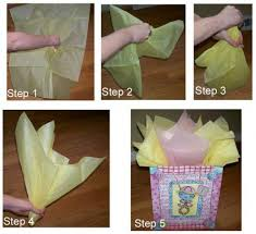 gift paper tissue how to place tissue paper in a gift bag and make it look