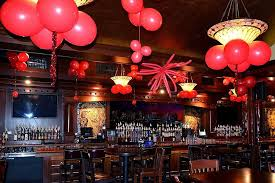 New Year Decorations With Balloons by New Year U0027s Red Ceiling Decor The Greatest Bar 4th Floor Club