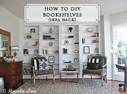 Cost Of Built In Bookcases How To Build Diy Built In Bookcases From Ikea Billy Bookshelves