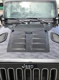 Rugged Ridge Grille Inserts Jeep Jk Rugged Ridge Wrangler Louvered Steel Hood Vent Insert Primer