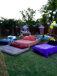 Outdoor Party Ideas by Air Mattresses For Movie Night Outside Diy For Teens Pinterest
